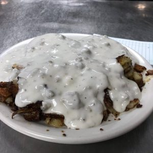 Biscuits And Gravy With Skillet Fries