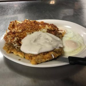 Chicken Fried Steak With Potatoes Eggs