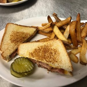 Grilled Ham And Cheese With French Fries