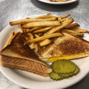 Kids Grilled Cheese With French Fries