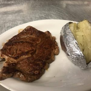 Ribeye Steak Baked Potato
